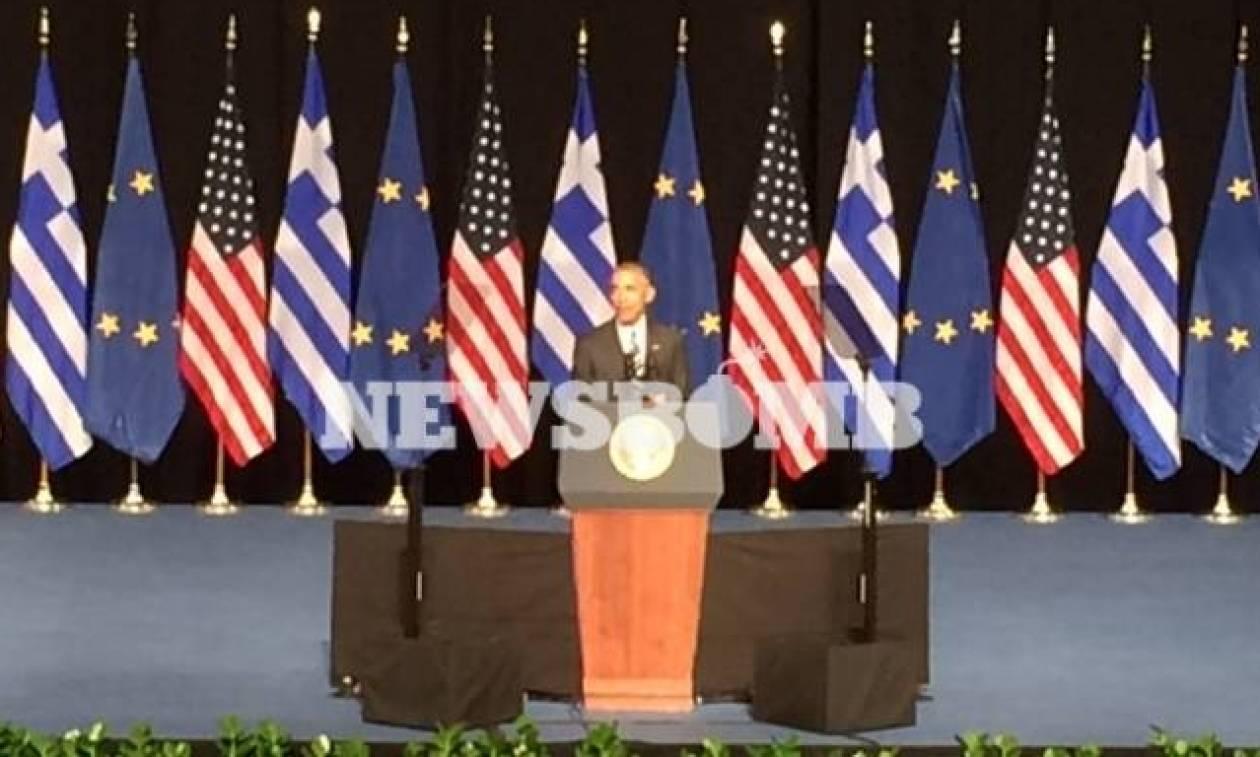 Ομπάμα: Ζήτω η Ελλάς - Ευγνωμοσύνη γι' αυτόν τον κόσμο το μικρό, το μέγα…