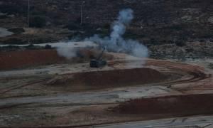 Βολές Πυροβολικού και Πολλαπλών Εκτοξευτών Πυραύλων (MLRS) στο Πεδίο Βολής Κρήτης (pics)