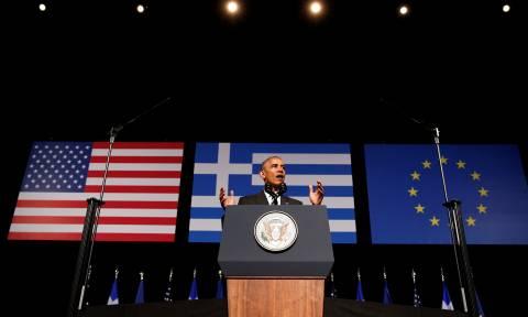 Όταν ο Ομπάμα μίλησε ελληνικά: Φιλοξενία, σπανακόπιτα και φουστανέλα! (video)