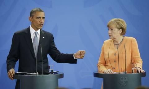 Κοινό μήνυμα Μέρκελ - Ομπάμα: Είμαστε πιο δυνατοί όταν συνεργαζόμαστε