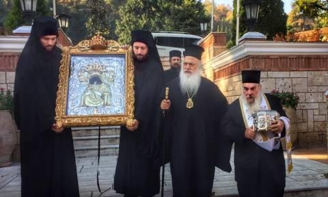 Στη Βέροια η Παναγία η Πανάχραντος και η Τιμία Κάρα του Αγίου Παντελεήμονος