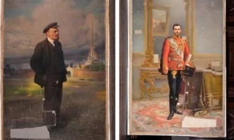 Πορτρέτο του τσάρου Νικόλαου Β΄ έμεινε κρυμμένο επί 90 χρόνια πίσω από αυτό του Λένιν! (video)