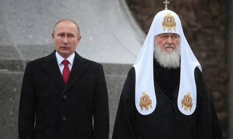 Путин поздравил патриарха Кирилла с 70-летним юбилеем