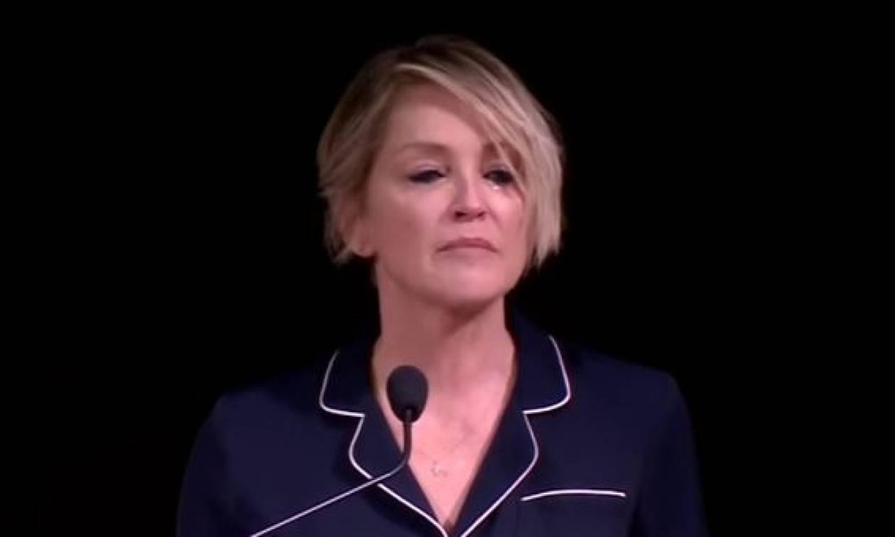 «Λύγισε» η Σάρον Στόουν: Ο βιασμός και η επιστολή που την συγκλόνισε! (vid)
