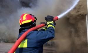 Μεγάλη φωτιά τώρα στο Μαρκόπουλο