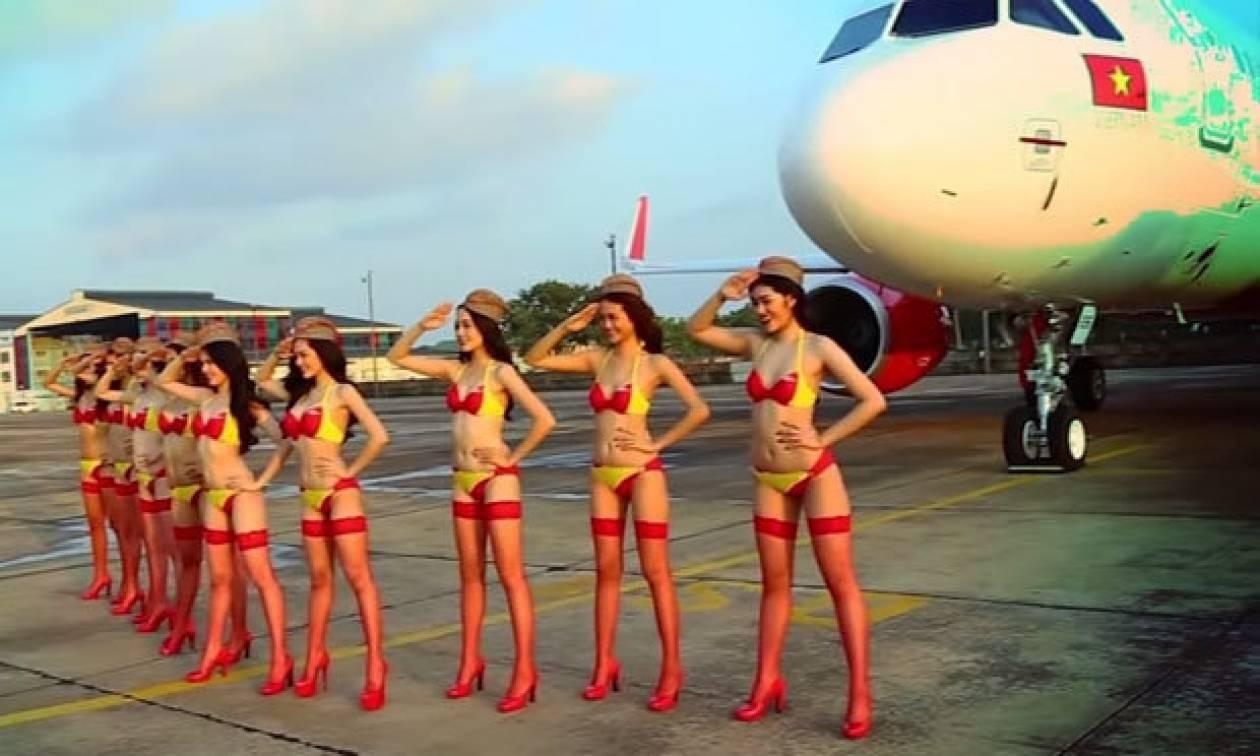 Αεροσυνοδοί με μπικίνι «κατακτούν» τους αιθέρες! (pics)