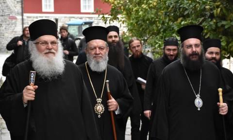Οι Μητροπολίτες Χαλκίδος και Τρίκκης στην Μονή Βατοπαιδίου