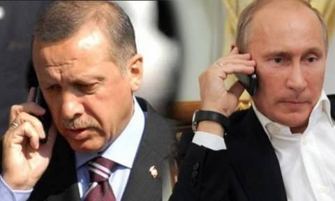 Τηλεφωνική επικοινωνία Πούτιν - Ερντογάν
