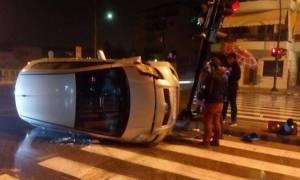 Λάρισα: Το αυτοκίνητο έκανε ...τρελή πορεία αλλά ο οδηγός βγήκε σώος και αβλαβής! (pics)