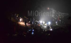 Κολομβία-Συντριβή αεροσκάφους: Στους 76 ο αριθμός των νεκρών