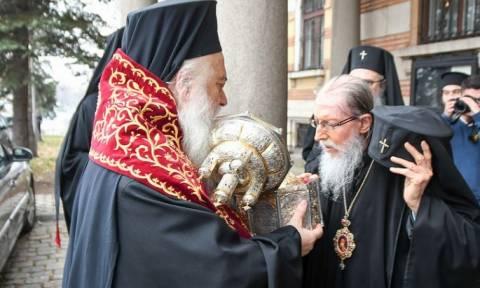 Ο Βεροίας Παντελεήμων στη Σόφια με την τιμία Κάρα του Αγίου Κλήμεντος Αχριδών