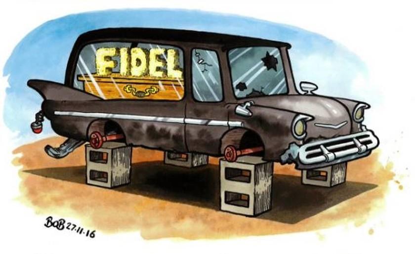 Σκιτσογράφοι από όλο τον κόσμο «αποχαιρετούν» τον Φιντέλ Κάστρο (pics)