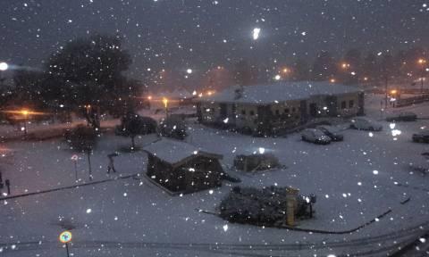 Κακοκαιρία: Χιονίζει στα ορεινά της δυτικής Θεσσαλίας