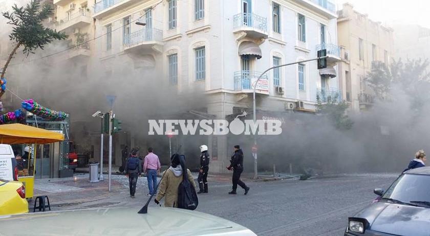 Ισχυρή έκρηξη στο κέντρο της Αθήνας