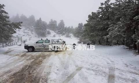 Κακοκαιρία: Αποκαταστάθηκε η κυκλοφορία στη λεωφόρο Πάρνηθος