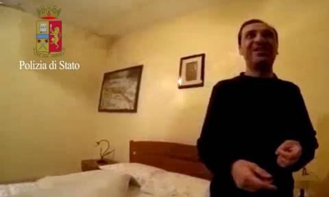 Συνελήφθη ο πιο επικίνδυνος καταζητούμενος της Ιταλίας - Δείτε σε βίντεο τη στιγμή της σύλληψης