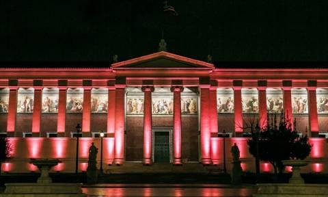 Στα «κόκκινα» το Πανεπιστήμιο Αθηνών για την παγκόσμια ημέρα κατά του AIDS