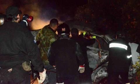 Σοκαριστικές εικόνες: Οδηγός κάηκε ζωντανός στην εθνική οδό Άργους – Μυκηνών