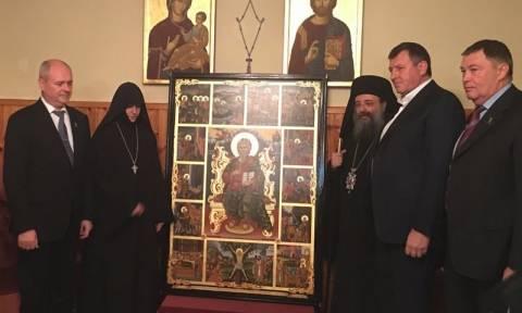 Αντίγραφο Ιεράς Εικόνας του Αγίου Ανδρέου στη Ρωσία