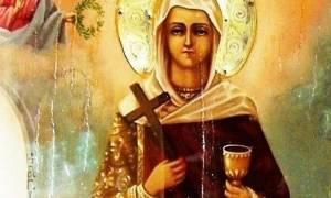 Γιατί η Αγία Βαρβάρα απεικονίζεται με ένα ποτήρι στο χέρι;