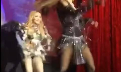 Το καυτό twerking της Μαντόνα που... πρόδωσε το μυστικό της! (vid)