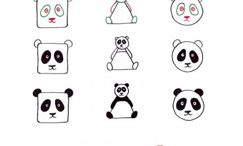 Ιδέες για τις γιορτές: Πώς να ζωγραφίσετε οποιοδήποτε ζώο με ένα τρίγωνο, τετράγωνο ή κύκλο
