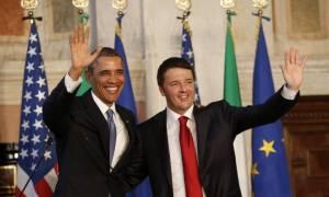 Διαβεβαίωση Ομπάμα σε Ρέντσι για τις στενές σχέσεις ΗΠΑ- Ιταλίας