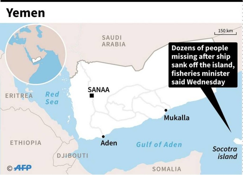 Τραγωδία σε ναυάγιο ανοιχτά της Υεμένης – Σχεδόν 60 άνθρωποι αγνοούνται
