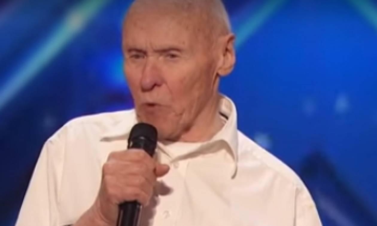 Απίθανος παππούς ετών 82 ξεσηκώνει το «Αμερική Έχεις Ταλέντο» τραγουδώντας... heavy metal (video)