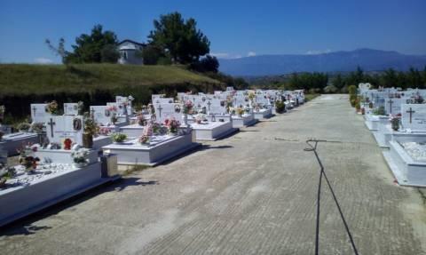 Ανατριχιαστικό: Ιερόσυλοι σύλησαν τάφους στα Τρίκαλα (photo)