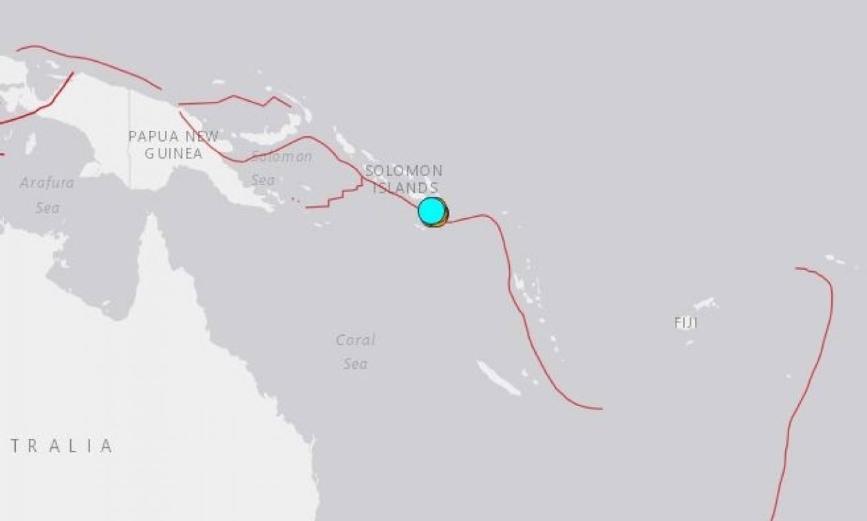 Νέος ισχυρός σεισμός συγκλονίζει τα νησιά του Σολομώντα