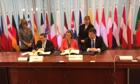 Υπεγράφη ιστορική συμφωνία Ευρωπαϊκής Ένωσης - Κούβας