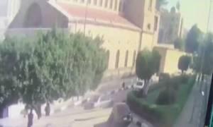 Βίντεο ντοκουμέντο από τη φονική έκρηξη σε εκκλησία στο Κάιρο