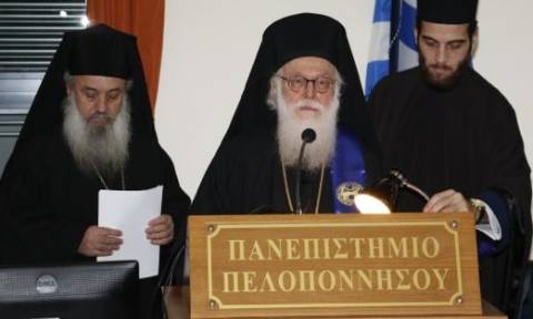 Επίτιμος διδάκτωρ του Πανεπιστημίου Πελοποννήσου ο Αρχιεπίσκοπος Αλβανίας (video)