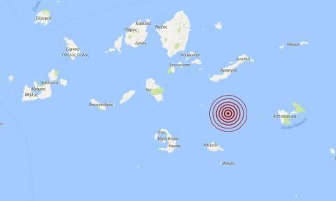 Σεισμός μεταξύ Σαντορίνης και Αστυπάλαιας