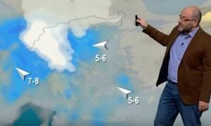 Αρναούτογλου: «Θα χωριστεί η Ελλάδα στα δύο: Χιόνια στα Βόρεια, καταιγίδες στα Νότια από την Τρίτη»