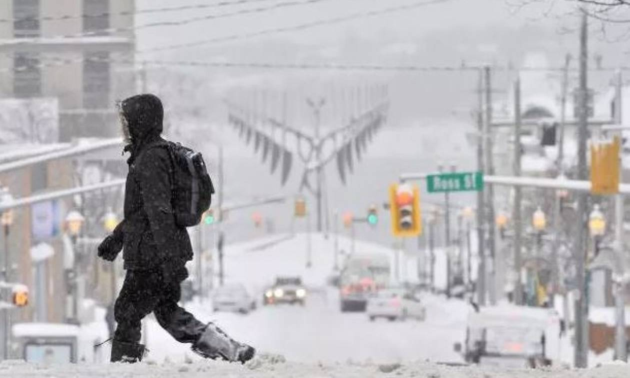Κύμα πολικού ψύχους σαρώνει τον Καναδά - Ισχυρές χιονοπτώσεις (pics+vid)