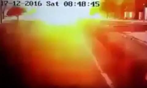 Βίντεο-Σοκ: Δείτε τη στιγμή της πολύνεκρης έκρηξης στην Καισάρεια