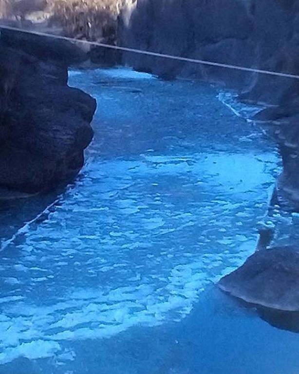 Κακοκαιρία: Πάγωσε ο ποταμός Βενέτικος στο Νομό Γρεβενών! (pics)