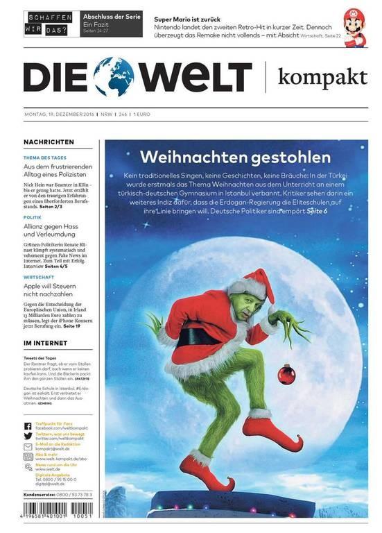 Σάλος στην Γερμανία από την είδηση ότι ο Ερντογάν απαγόρευσε τα Χριστούγεννα