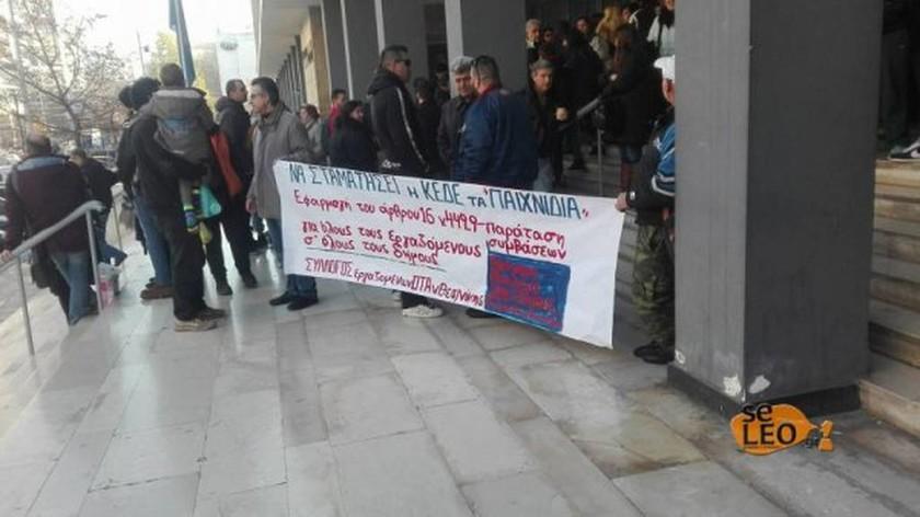 Θεσσαλονίκη: Στους δρόμους οι εργαζόμενοι στους ΟΤΑ