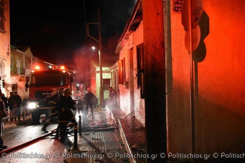 Χίος: Παρανάλωμα του πυρός σπίτι στον Φραγκομαχαλά (pics&vid)