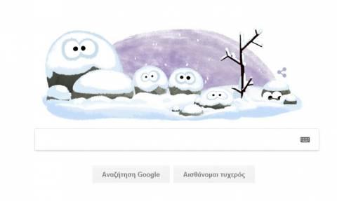 Πρώτη ημέρα του Χειμώνα 2016 από την Google