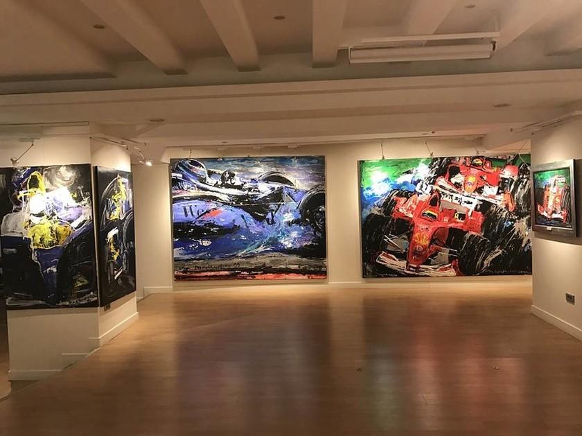 Εγκαίνια της έκθεσης της Μίνας Παπαθεοδώρου - Βαλυράκη «Restless Speed»