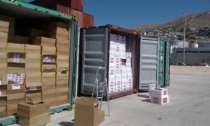 Πειραιάς: Πάνω από 1.000.000 λαθραία πακέτα τσιγάρων εντοπίστηκαν σε εμπορευματοκιβώτια