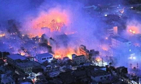 Ιαπωνία: Τεράστια πυρκαγιά μαίνεται ανεξέλεγκτη – Καίγονται 140 κτήρια! (Vids+Pics)