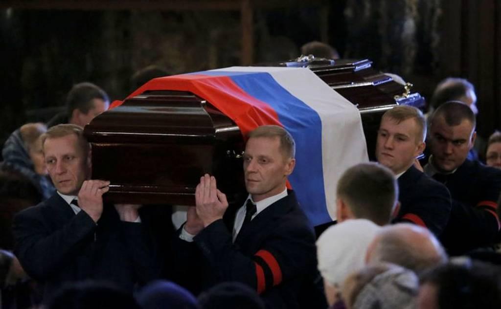 Θρήνος στην κηδεία του Ρώσου πρέσβη - Ράκος ο Πούτιν (photos+video)