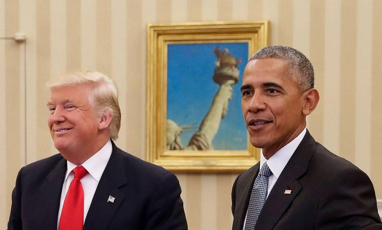 Χριστούγεννα 2016  Πώς τα γιόρτασαν Ντόναλντ Τραμπ και Μπαράκ Ομπάμα d219be33385