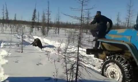 Βίντεο-Σοκ: Ανεγκέφαλοι σπάνε τα κόκκαλα αρκούδας με φορτηγό (ΠΡΟΣΟΧΗ! ΠΟΛΥ ΣΚΛΗΡΕΣ ΕΙΚΟΝΕΣ)