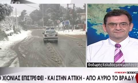 Θοδωρής Κολυδάς: «Το σιγουρέψαμε. Χιόνια και στην Αθήνα...»